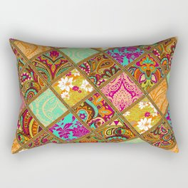 Patchwork Paisley Rectangular Pillow