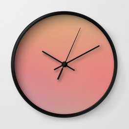 SOMETHINGS WRONG - Minimal Plain Soft Mood Color Blend Prints Wall Clock
