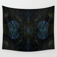 techno Wall Tapestries featuring Techno Archeology by writingoverashes