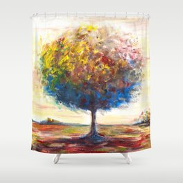 Tree landscape Shower Curtain