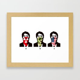 ABC - 281 Anti Nuke Framed Art Print