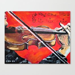 Homage to the Violin Canvas Print
