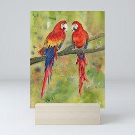 Scarlet Macaw Parrots Mini Art Print