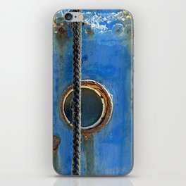 Blue Rusty, Grungy Ship Detail iPhone Skin
