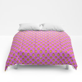 Elongated Holes3 Spanked Pink Comforters