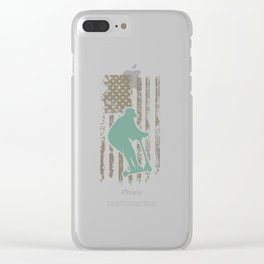 Awesome Patriotic USA Scooter Clear iPhone Case