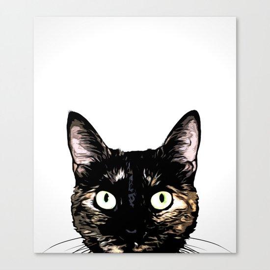Peeking Cat Canvas Print