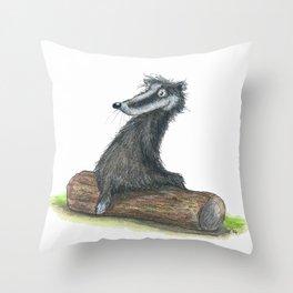 Badgers Date Throw Pillow