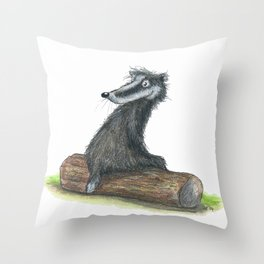 Badgers Date Throw Pillow
