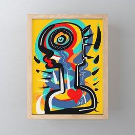 Wild Heart Street Art Graffiti Primitive Framed Mini Art Print