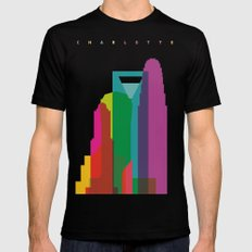 Shapes of Charlotte accurate to scale MEDIUM Mens Fitted Tee Black