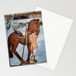 Professor Harvard on the Family painting by Jes Fuhrmann  Stationery Cards
