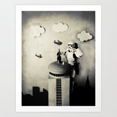 Storm kong (Those are not the Planes you are Climbing for) Art Print