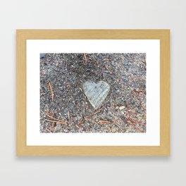 Wild Rock Heart Framed Art Print