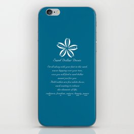 Sand Dollar Doves Poem and Talisman iPhone Skin