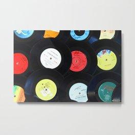 Retro Vinyl Records Metal Print