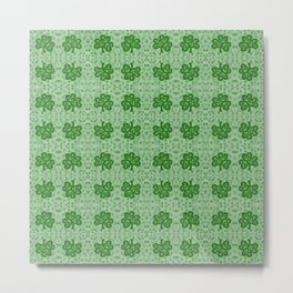 Irish Clover Metal Print