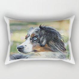 Australian Shepherd Dog Rectangular Pillow