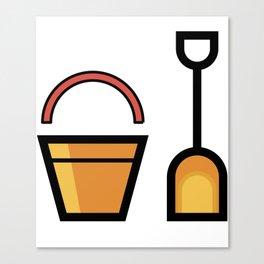 Sand Shovel And Bucket Cute Gift Idea Canvas Print