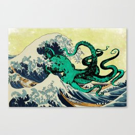 Great Octo-Wave Canvas Print