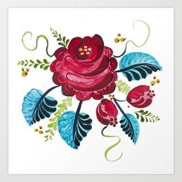 Röd Blomma Art Print