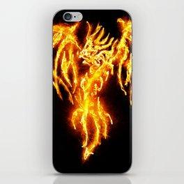 Dragon skeleton in flames iPhone Skin