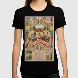 Mc. Kinley and Hobart Presidential Elections Vintage Poster 1896 T-shirt