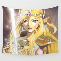 zelda Wall Tapestries featuring Zelda by Mika