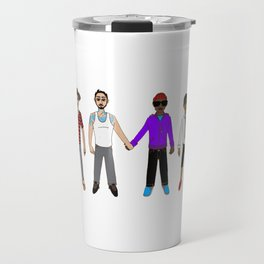 Multicultural Gay Relationships Travel Mug
