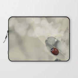 Ladybug in the Snow Laptop Sleeve