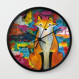 The Vixen Accounts for Her Meals Wall Clock