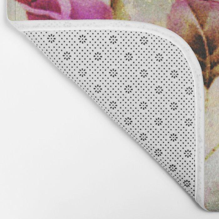 rosebush and textures Bath Mat