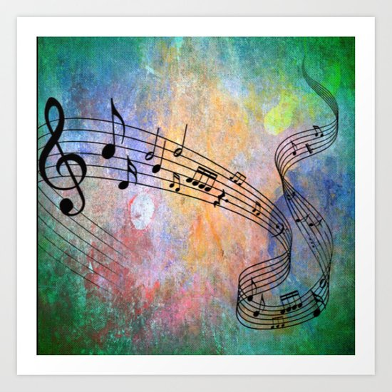 Abstract MUSIC Art Print by MehrFarbeimLeben   Society6 - photo #28