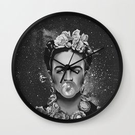 Frida kahlo Space Wall Clock