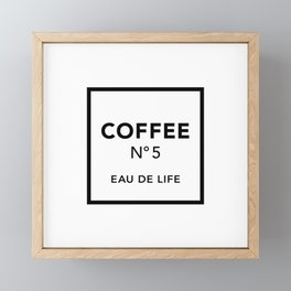 Coffee No5 Framed Mini Art Print