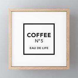 Coffee No5 Framed Mini Art Print