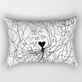 The lines of Love - White version. Rectangular Pillow