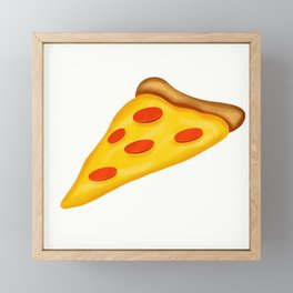 Pepperoni Pizza Framed Mini Art Print
