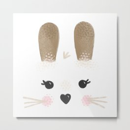 Little Bunny Face Metal Print