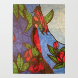 Rose Garden at Twilight Poster
