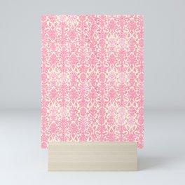Salmon Pink Damask Mini Art Print