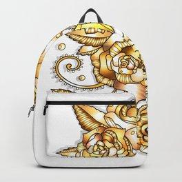 Golden Floral Backpack