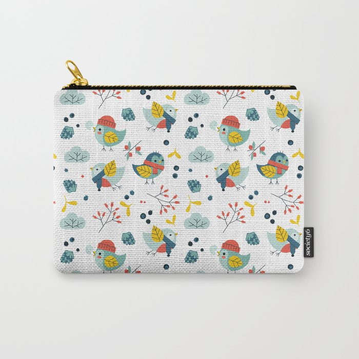 winter birds pattern Carry-All Pouch