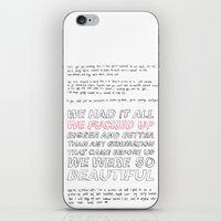 misfits iPhone & iPod Skins featuring misfits by Angela Schroder