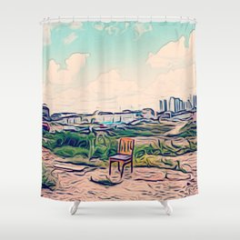 A Redevelopment Area Shower Curtain