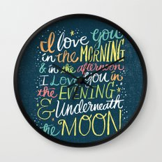 I LOVE YOU IN THE MORNING (color) Wall Clock