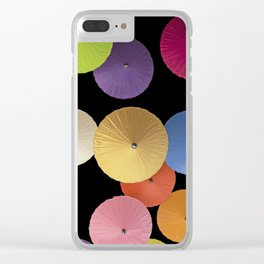 Colorful Paper Umbrella Abstract Clear iPhone Case