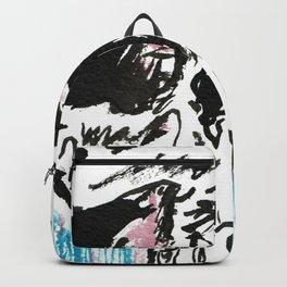 Red white and blue skull Backpack