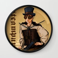 Steampunk Lady Wall Clock