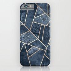 Soft Dark Blue Stone Slim Case iPhone 6s